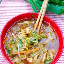 sopa picante oriental
