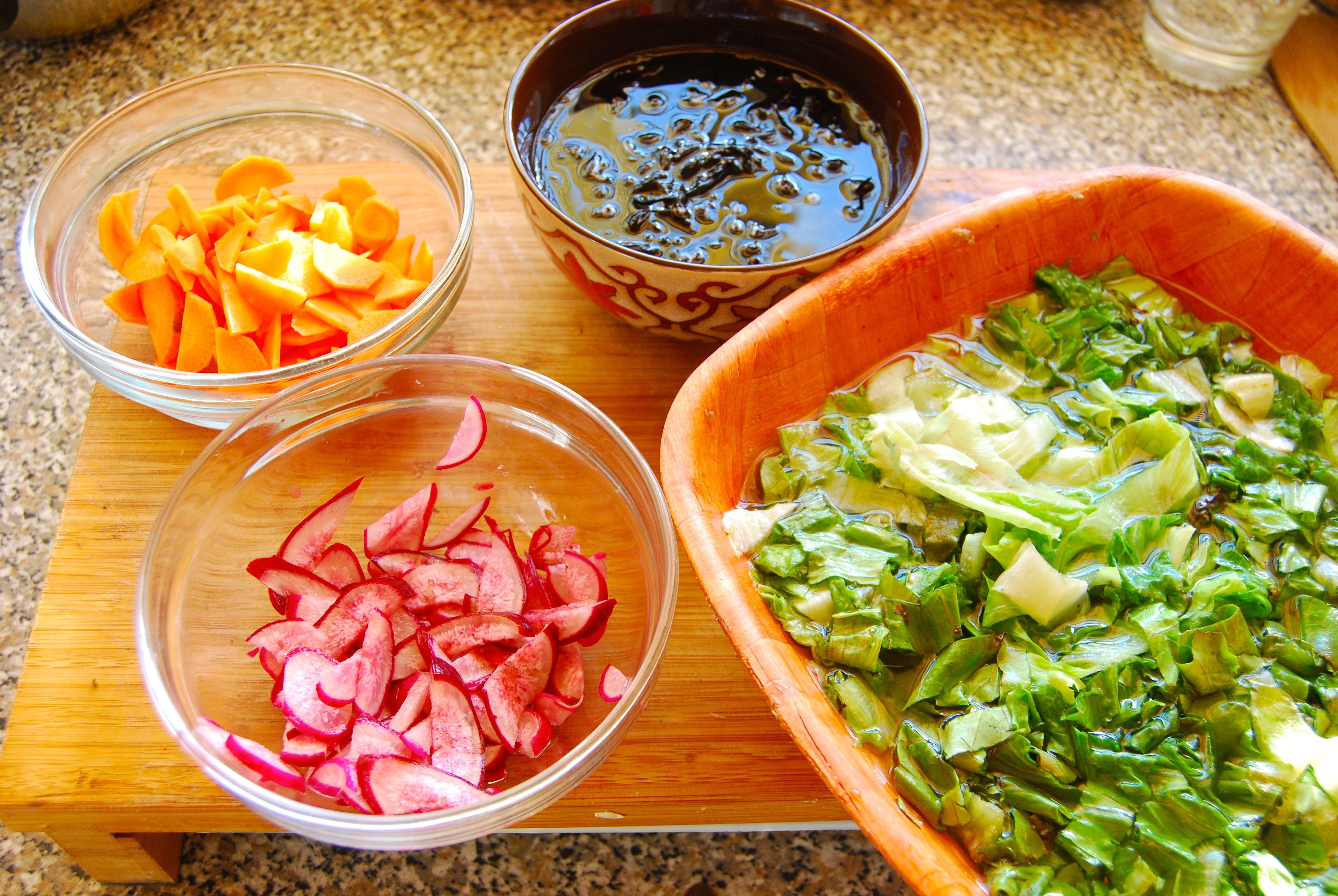 ingredientes para ensalada de algas