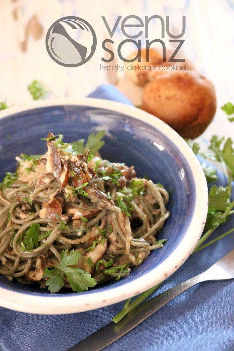 espaguetis-con-algas-y-setas