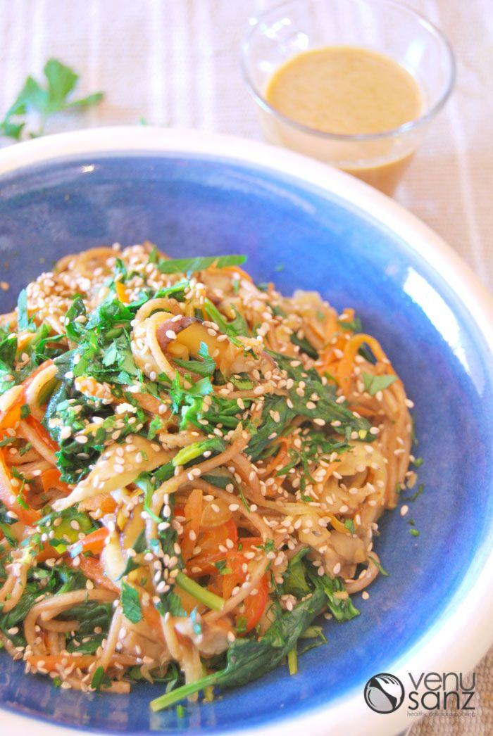 Pasta-de-trigo-sarraceno-con-verduras