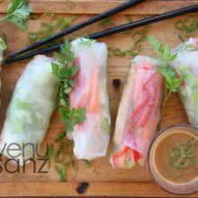 Rollitos de verano rellenos de verduras