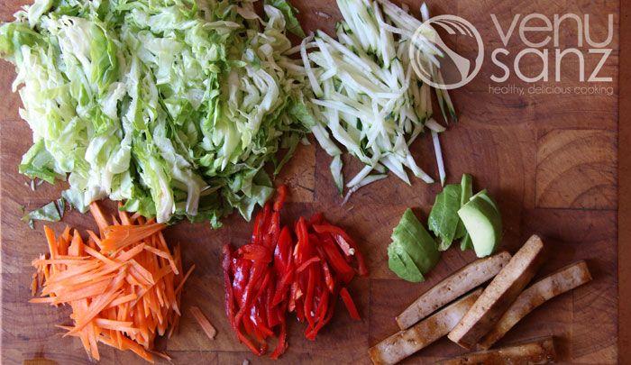 Verduras para rollitos