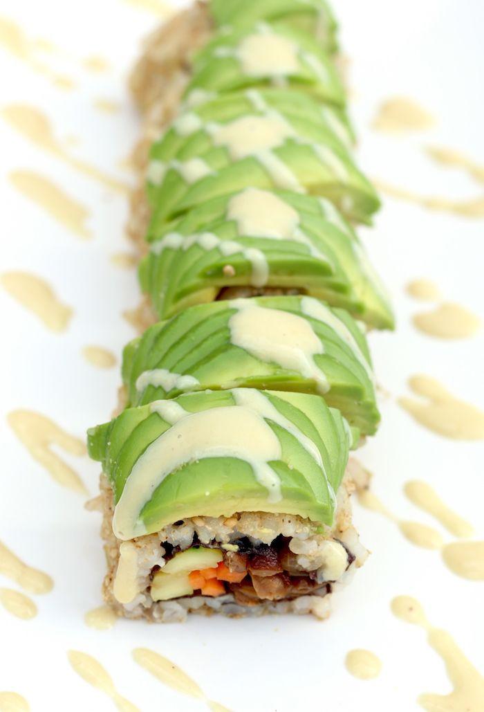 Receta sushi vegetariano