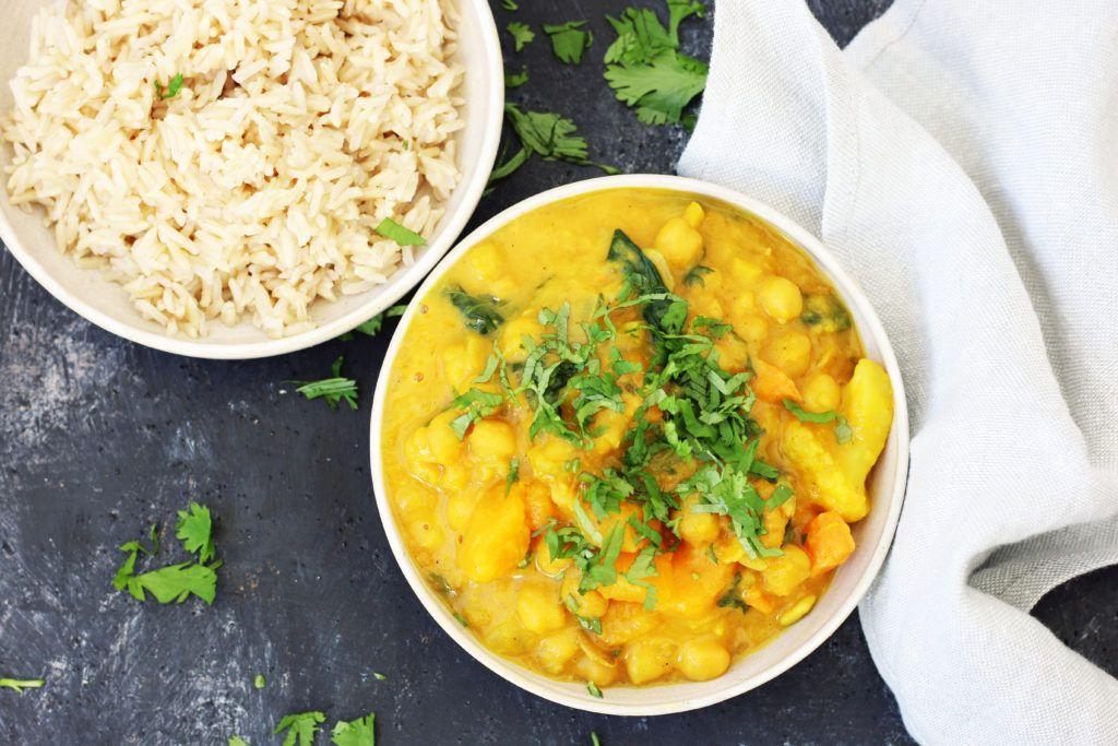 curry vegano de garbanzos