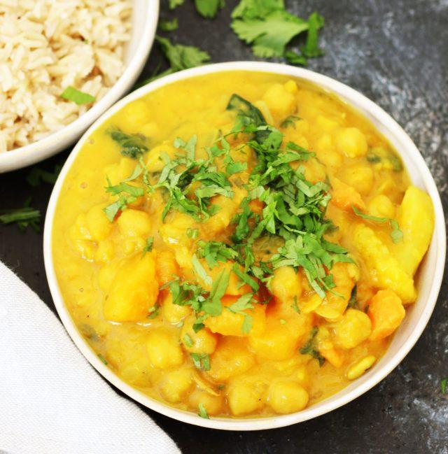 curry con garbánzos