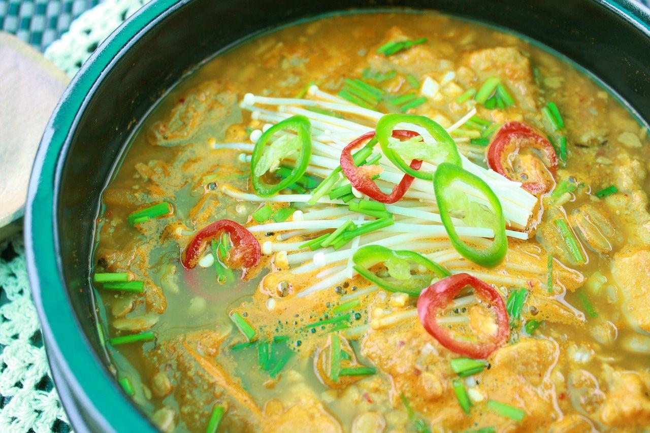 sopa tailandesa awakame y tempeh