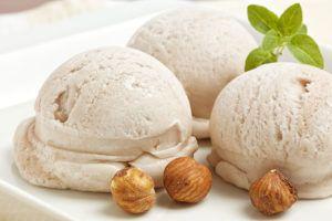 helado de avellanas