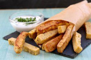 Patatas fritas de garbanzo