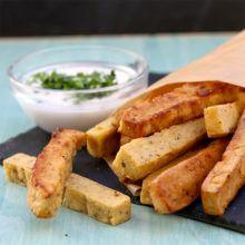 Patatas veganas de garbanzo