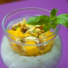 ceviche vegano de setas y mango