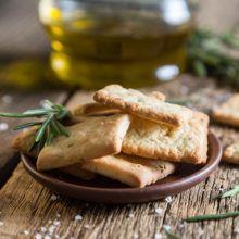 Crackers de romero sin gluten