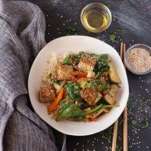 Receta de tofu agridulce con verduras