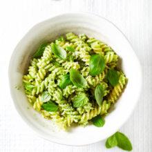 Pasta con salsa verde
